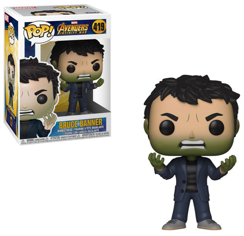 Funko Avengers Infinity War POP! Marvel Bruce Banner Vinyl Bobble Head #419 [with Hulk Head]
