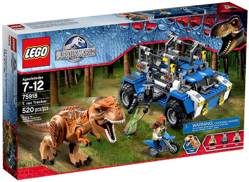 LEGO Jurassic World T. Rex Tracker Set #75918 [Damaged Package]