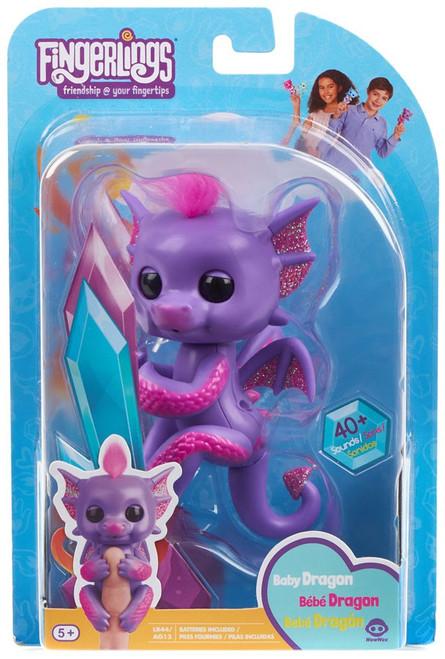 Fingerlings Baby Dragon Kaylin Figure [Purple]