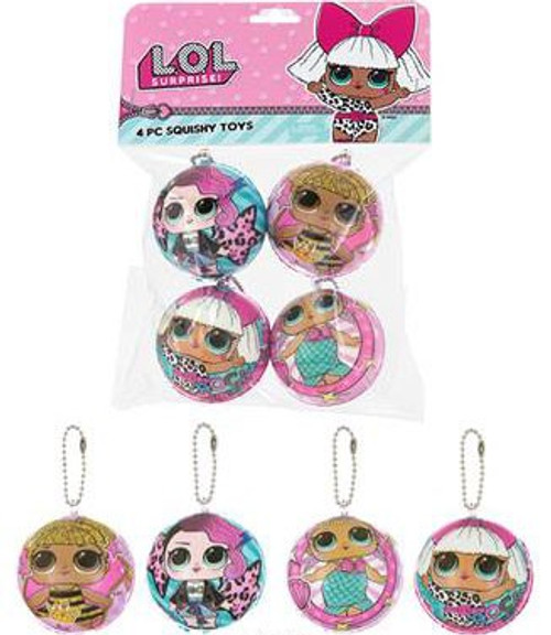 LOL Surprise Squishy Toys 4 Piece Set
