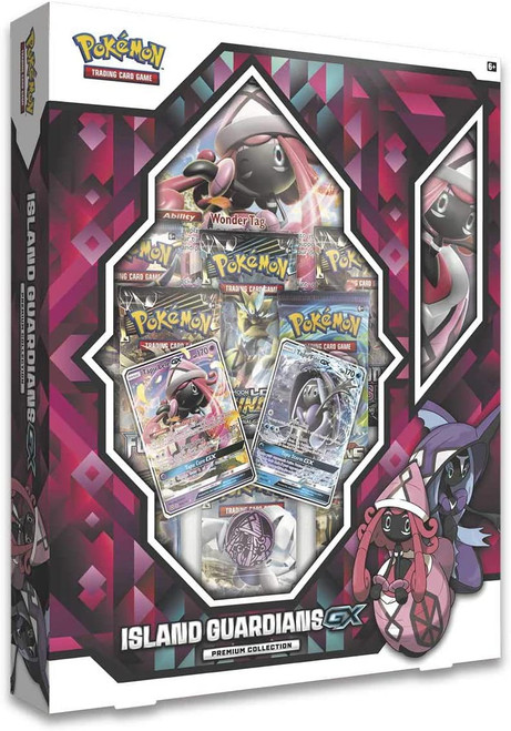 Pokemon Trading Card Game Island Guardians Tapu Lele-GX & Tapu Fini-GX Premium Collection [8 Booster Packs, 2 Promo Cards, Playmat, Coin & More!]