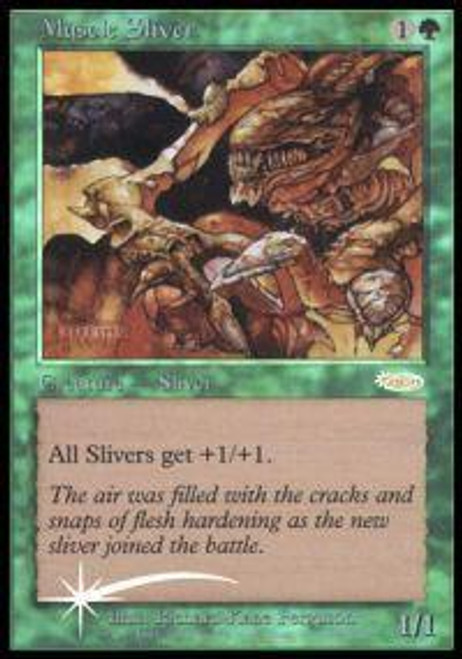 MtG Friday Night Magic Promo Muscle Sliver [FNM 2003]