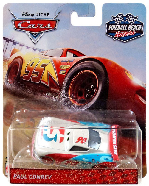 Disney / Pixar Cars Cars 3 Fireball Beach Racers Paul Conrev Diecast Car