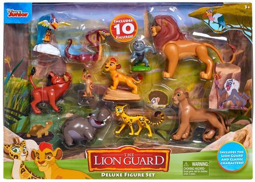 Disney The Lion Guard Ono, Simba, Bunga, Pumbaa, Timon, Ushari, Kion, Nala, Beshte & Fuli Figure 10-Pack