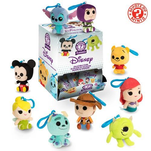 Funko Mystery Minis Plush Keychains Disney / Pixar Mystery Box [18 Packs]