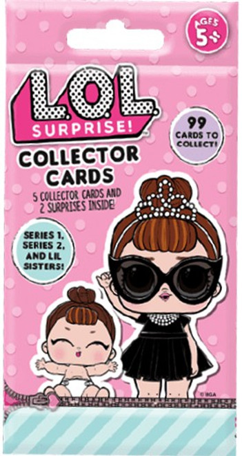 LOL Surprise Collector Cards Mystery Pack [Series 1, 2 & Lil Sisters]