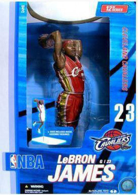 McFarlane Toys NBA Cleveland Cavaliers Sports Picks Deluxe LeBron James Action Figure