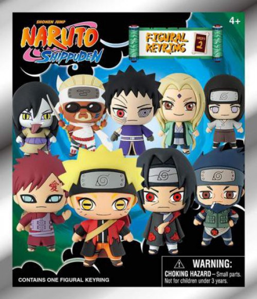 3D Figural Keyring Naruto Shippuden Series 2 Mystery Pack [1 RANDOM Figure]
