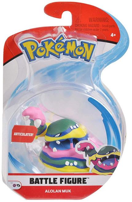 Pokemon Series 1 Battle Figure Alolan Muk 3-Inch Figure