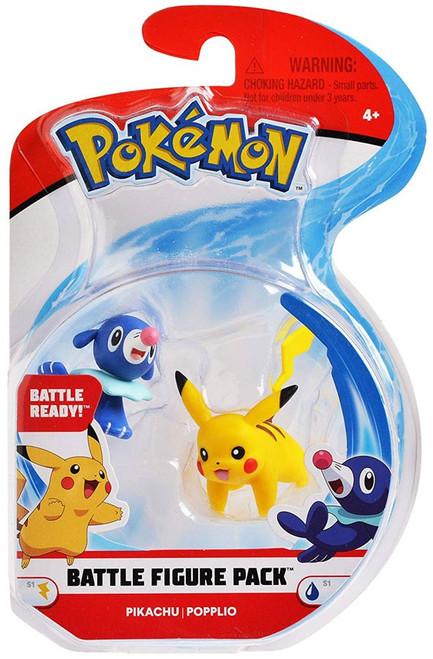 Pokemon Series 1 Battle Figure Pikachu & Popplio 2-Inch Mini Figure 2-Pack