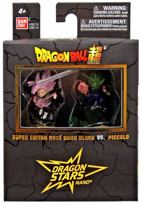 Dragon Ball Super Dragon Stars Nano Super Saiyan Rose Goku Black Vs. Piccolo 1.5-Inch Mini Figure 2-Pack