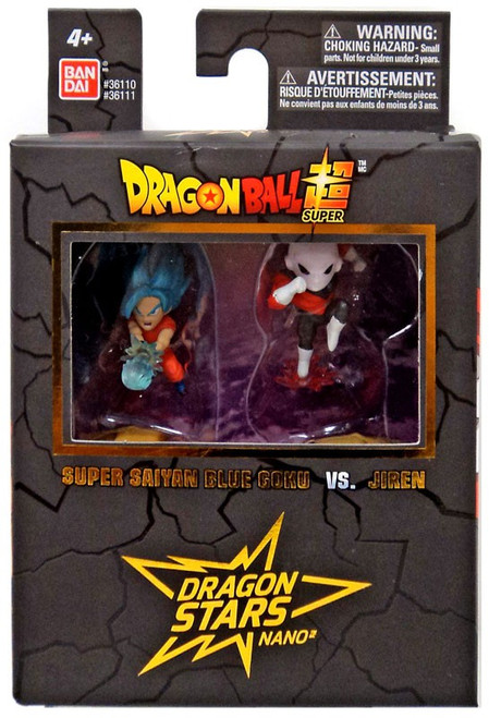 Dragon Ball Super Dragon Stars Nano Super Saiyan Blue Goku Vs. Jiren 1.5-Inch Mini Figure 2-Pack