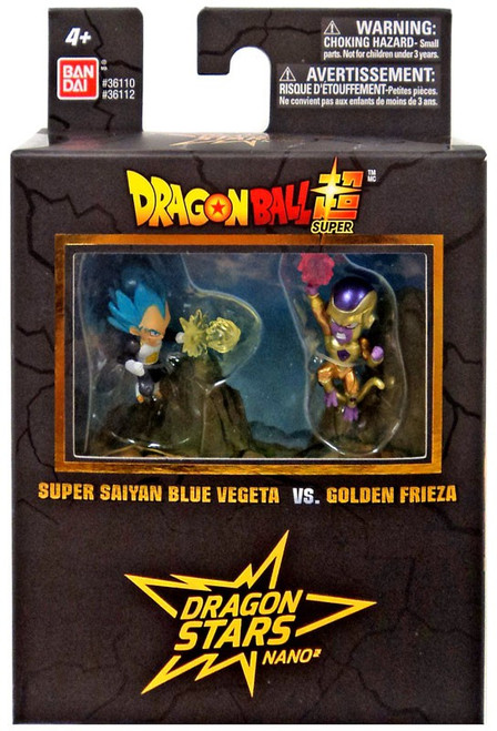 Dragon Ball Super Dragon Stars Nano Super Saiyan Blue Vegeta Vs. Golden Frieza 1.5-Inch Mini Figure 2-Pack