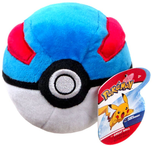 Pokemon Pokeball Great Ball 5-Inch Plush