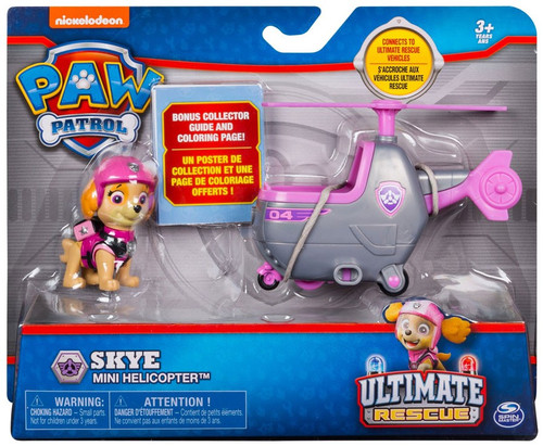 Paw Patrol Ultimate Rescue Skye Mini Helicopter Vehicle & Figure