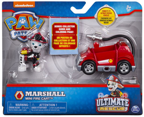 Paw Patrol Ultimate Rescue Marshall Mini Fire Cart Vehicle & Figure