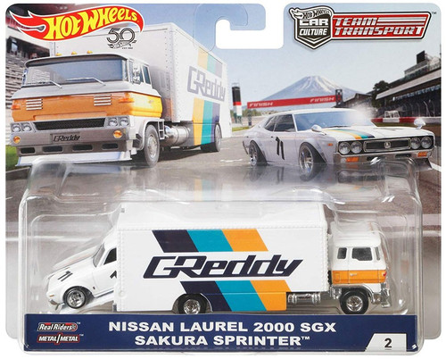 Hot Wheels Car Culture Team Transport Nissan Laurel 2000 SGX & Sakura Sprinter Diecast Car #2
