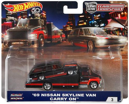 Hot Wheels Car Culture Team Transport '69 Nissan Skyline Van Carry On Diecast Car #3