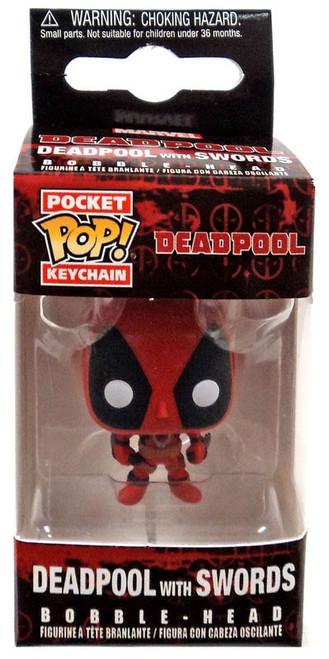 Funko POP! Marvel Deadpool with Swords Keychain [Deadpool Box]
