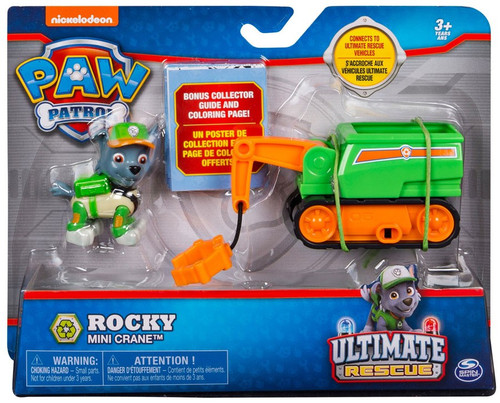 Paw Patrol Ultimate Rescue Rocky Mini Crane Vehicle & Figure