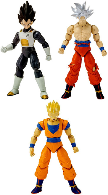 Dragon Ball Super Dragon Stars Series 7 Ultra Instinct Goku, Vegeta & Super Saiyan Gohan Set of 3 Action Figures [Broly Build-a-Figure]