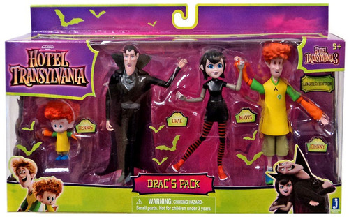 Hotel Transylvania 3 Drac's Pack Action Figure 4-Pack