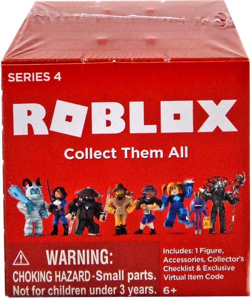 Roblox Series 4 Mystery Pack [Brick Cube, 1 RANDOM Figure & Virtual Item Code!]