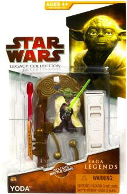 Star Wars Revenge of the Sith 2009 Legacy Collection Saga Legends Yoda Action Figure SL09