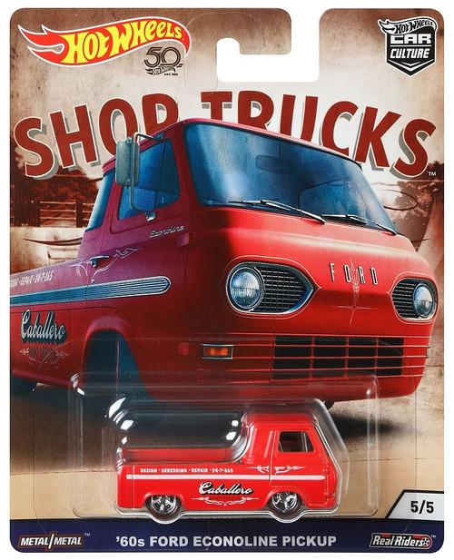 Hot Wheels Car Culture Shop Trucks '60's Ford Econoline Pickup Diecast Car #5/5