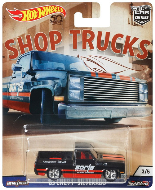 Hot Wheels Car Culture Shop Trucks '83 Chevy Silverado Diecast Car