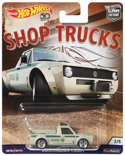 Hot Wheels Car Culture Shop Trucks Volkswagen Caddy Diecast Car [Rabbit Pickup]