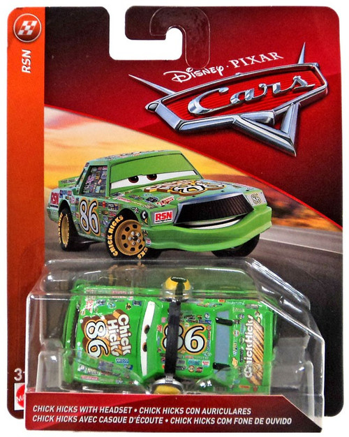 Disney / Pixar Cars Cars 3 RSN Chick Hicks with Headset Diecast Car