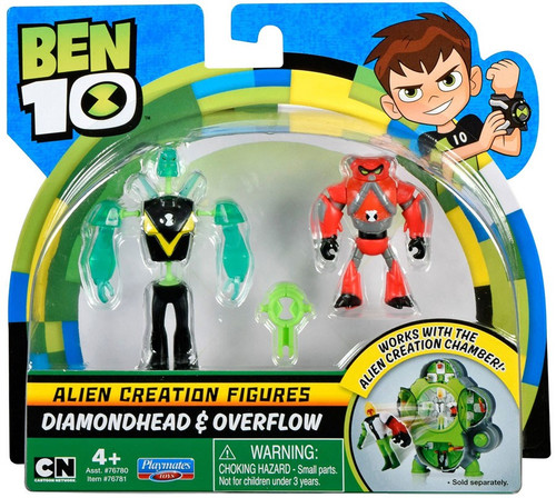 Ben 10 Alien Creation Figures Diamondhead & Overflow Mini Figure 2-Pack