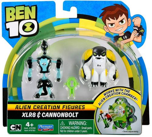 Ben 10 Alien Creation Figures XLR8 & Cannonbolt Mini Figure 2-Pack