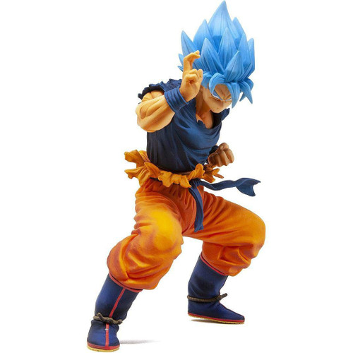 Dragon Ball Super Masterlise Super Saiyan Blue Son Goku 8-Inch Collectible PVC Figure