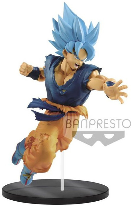 Dragon Ball Super Ultimate Soldiers - The Movie Super Saiyan Blue Son Goku 8-Inch Collectible PVC Figure #02