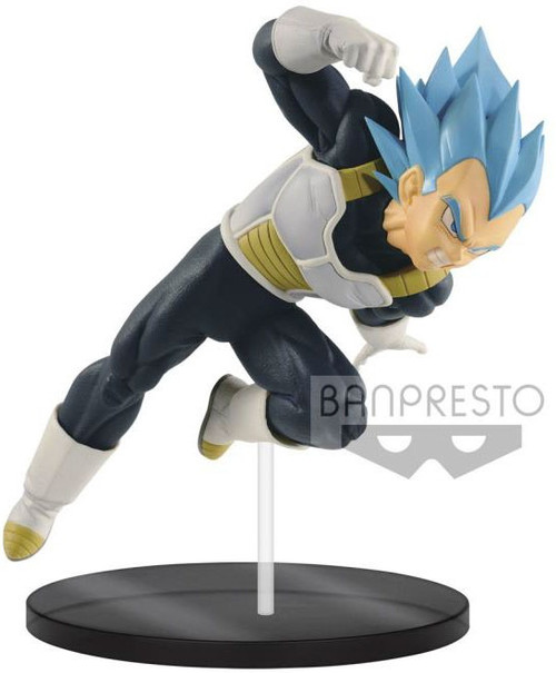 Dragon Ball Super Ultimate Soldiers - The Movie Super Saiyan Blue Vegeta 7-Inch Collectible PVC Figure #03