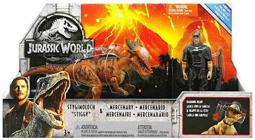 "Jurassic World Fallen Kingdom Stygimoloch ""Stiggy"" & Mercenary Action Figure Story Pack"