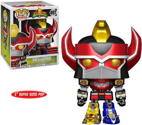 Funko Power Rangers POP! TV Megazord Exclusive 6-Inch Vinyl Figure #497 [Metallic Version, Super-Sized]