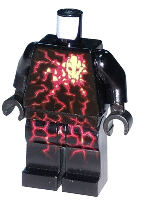 LEGO Black with Red Energy Pattern Loose Torso & Legs [Loose]