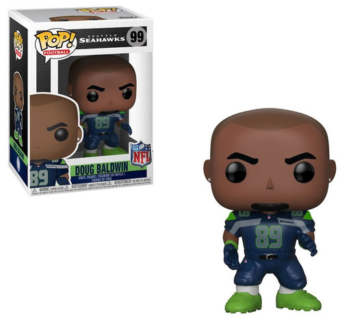 Funko NFL Seattle Seahawks POP! Sports Football Doug Baldwin Vinyl Figure #99 [Blue Jersey]