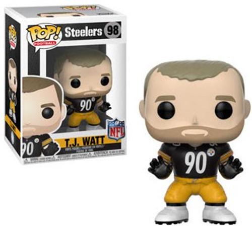 Funko NFL Pittsburgh Steelers POP! Sports Football T.J. Watt Vinyl Figure #98 [Black Jersey]