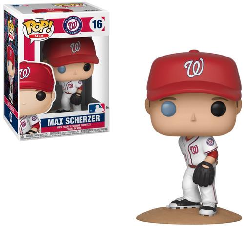 Funko MLB Washington Nationals POP! Baseball Max Scherzer Vinyl Figure #16 [Damaged Package]