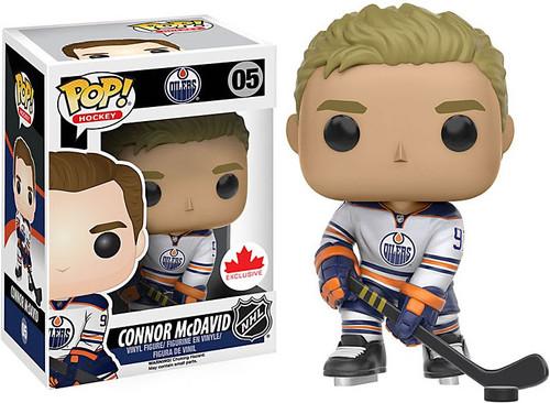 Funko NHL Edmonton Oilers POP! Sports Hockey Connor McDavid Exclusive Vinyl Figure #05 [White Jersey]