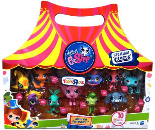 Littlest Pet Shop Circus Pets Performers Exclusive 10-Pack Collection