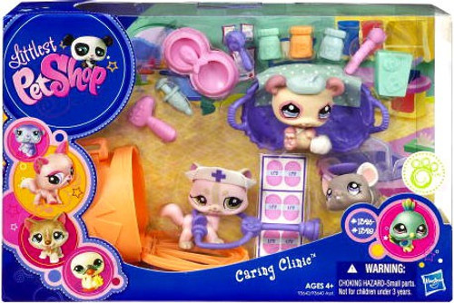 Littlest Pet Shop Caring Clinic Playset [Cat, Mouse, & Panda]