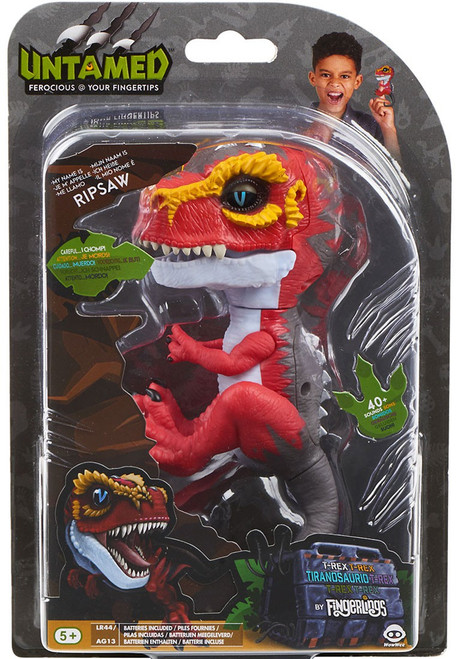 Fingerlings Untamed Dinosaur Ripsaw the T-Rex Figure [Red & Yellow]