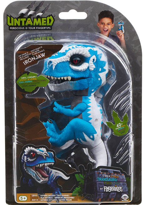 Fingerlings Untamed Dinosaur Ironjaw the T-Rex Figure [Blue & White]