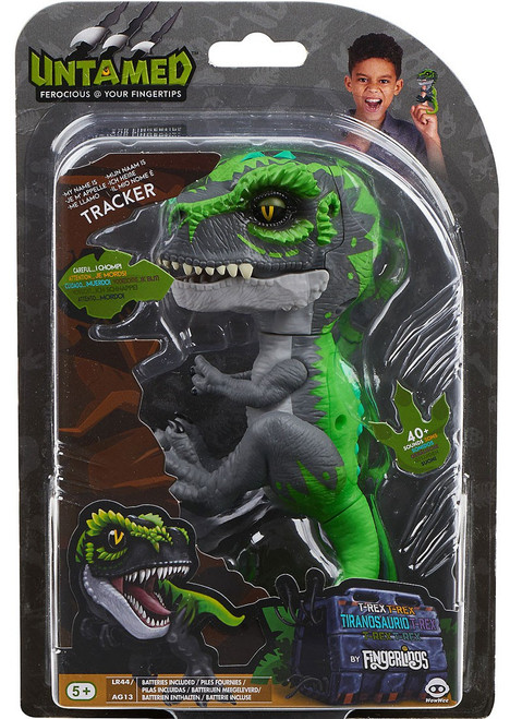 Fingerlings Untamed Dinosaur Tracker the T-Rex Figure [Grey & Green]