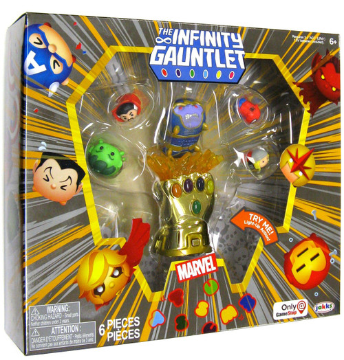Disney Marvel Tsum Tsum Infinity Gauntlet Exclusive Minifigure 6-Pack